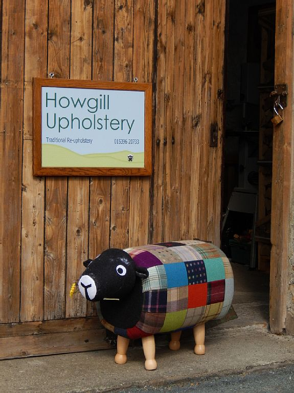 Howgill Upholstery shop front.